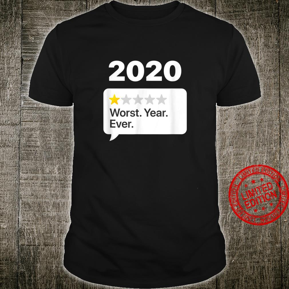 2020 Worst Year Ever Review Shirt