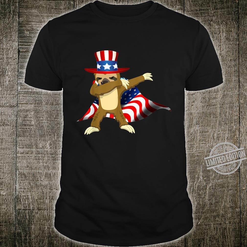 America Dabbing Sloth US Shirt