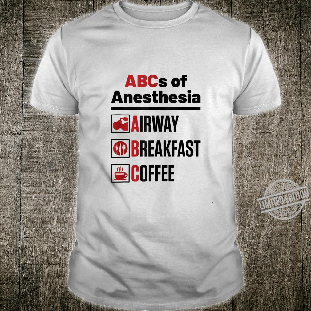 Anesthesiologist Anesthesia Doctor Nurse Surgery Shirt