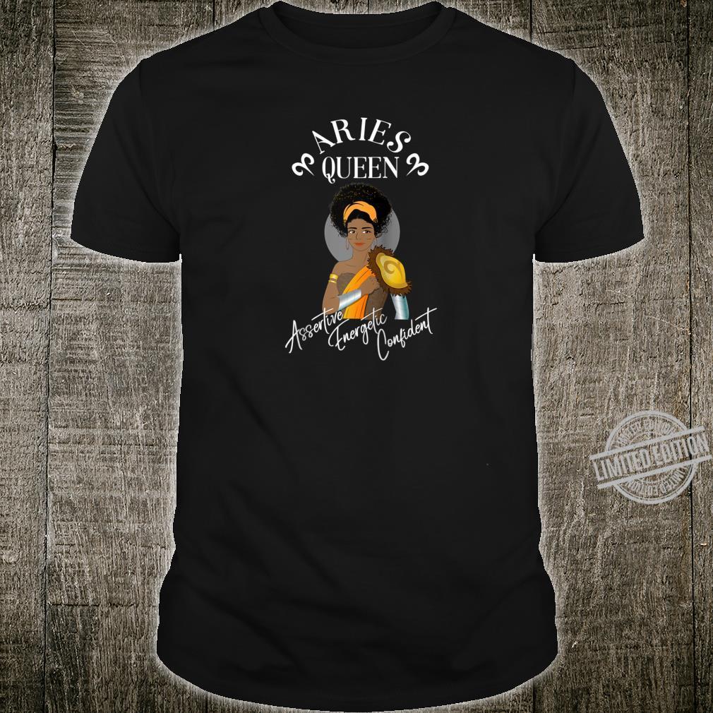 Aries Horoscope Black Queen African AmericanCaribbean Shirt