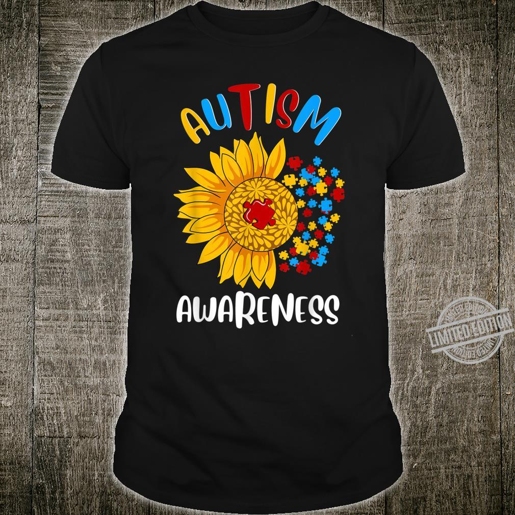Autism Awareness Sunflower Boys Girls Shirt