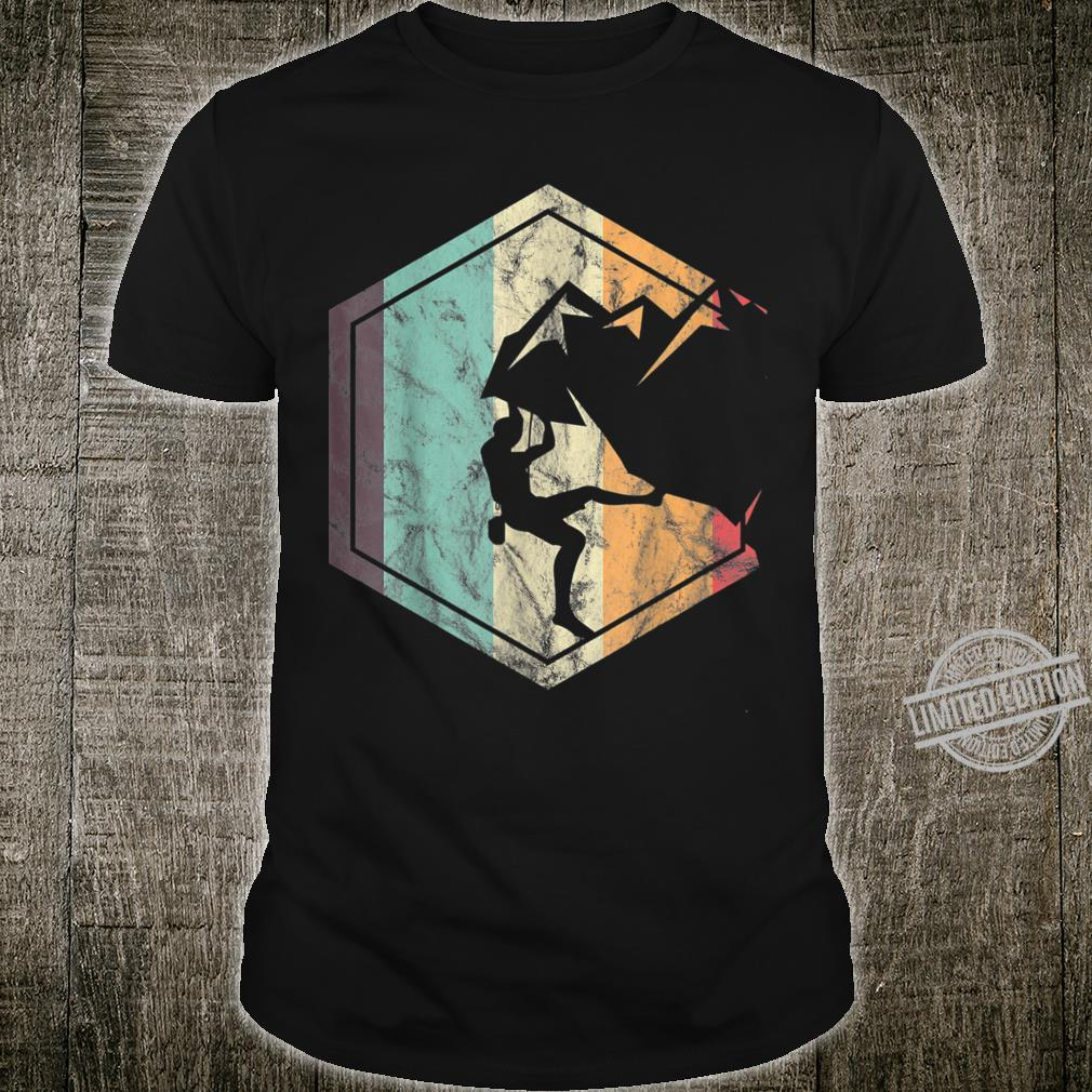 Awesome Rock Climbing Retro Mountain Climber Hiker Alpinism Shirt