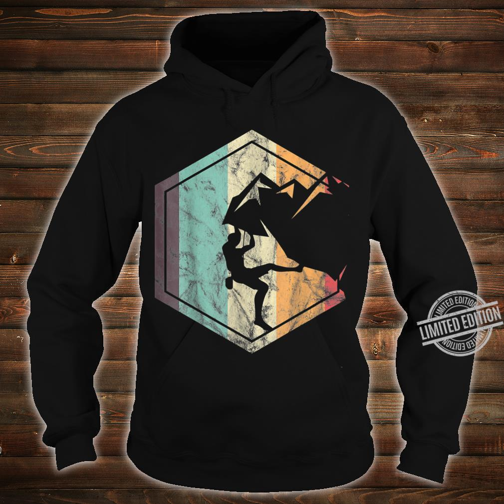 Awesome Rock Climbing Retro Mountain Climber Hiker Alpinism Shirt hoodie
