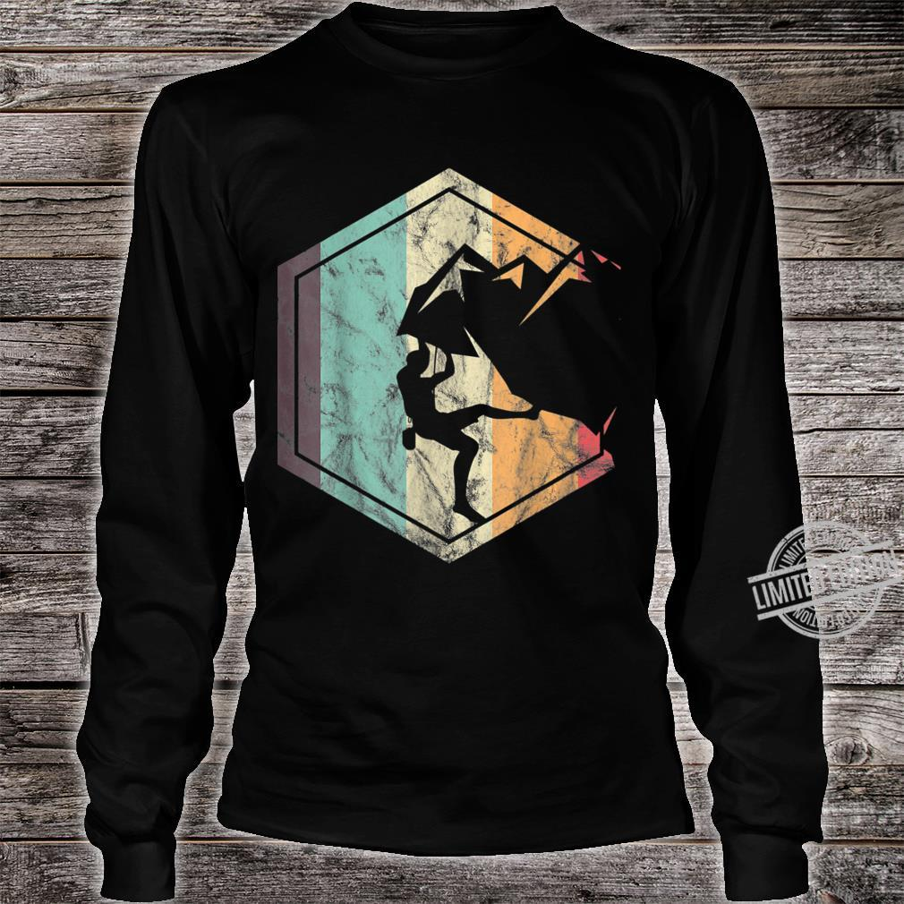 Awesome Rock Climbing Retro Mountain Climber Hiker Alpinism Shirt long sleeved