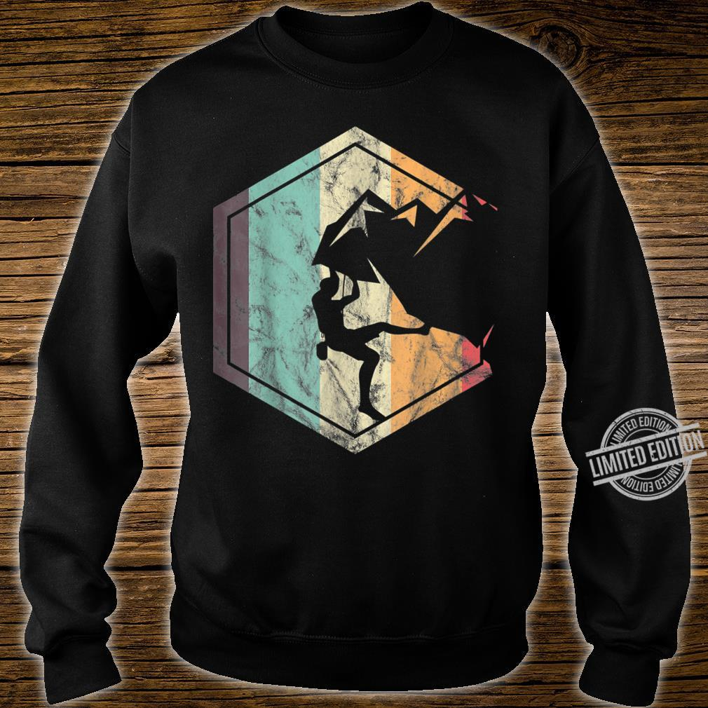 Awesome Rock Climbing Retro Mountain Climber Hiker Alpinism Shirt sweater