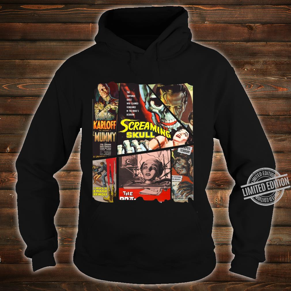B Movie Poster Collection, Classic SciFi Horror Film Mosaic Shirt hoodie