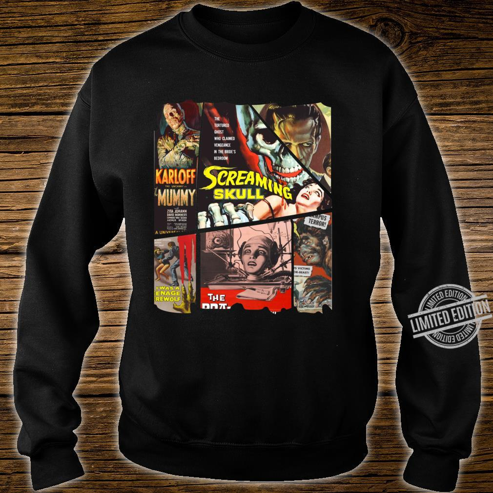 B Movie Poster Collection, Classic SciFi Horror Film Mosaic Shirt sweater