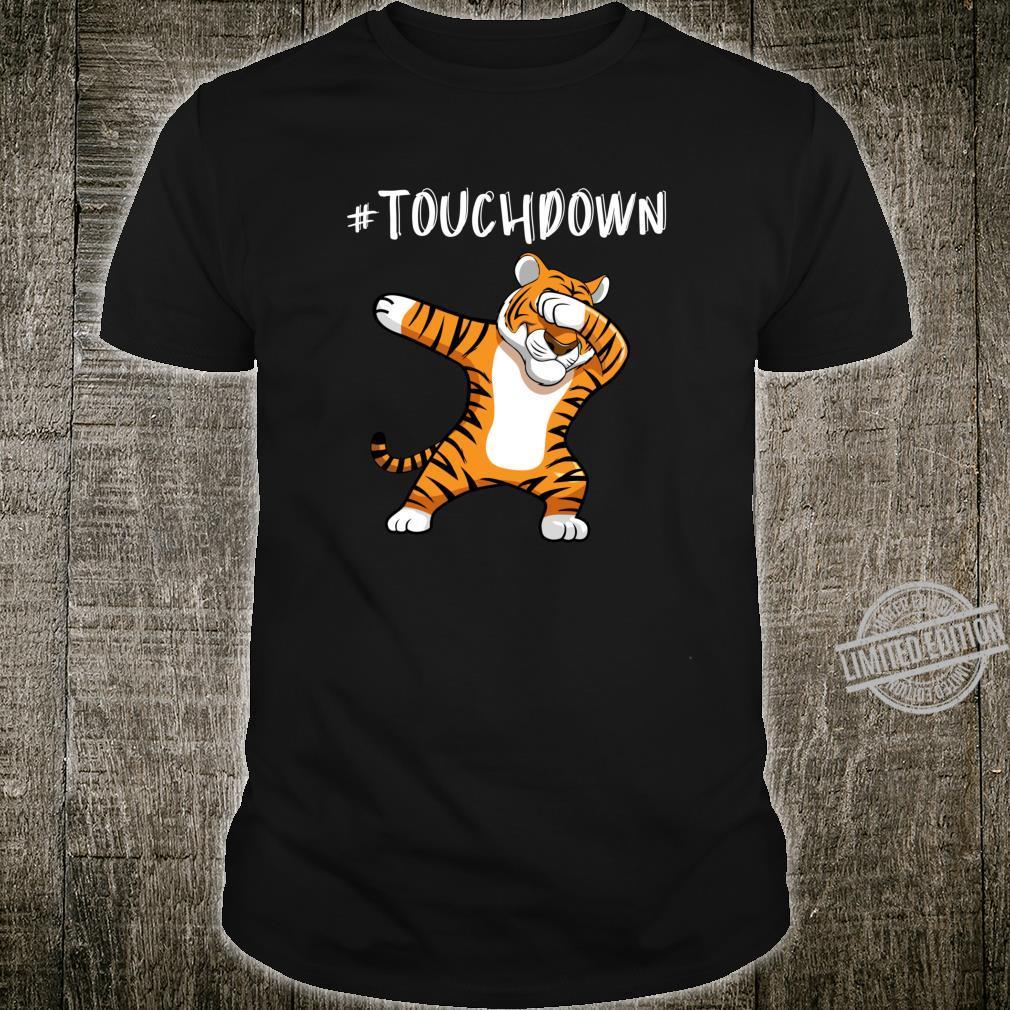 BDAZ Touchdown Football Tiger Dabbing Mascot Shirt