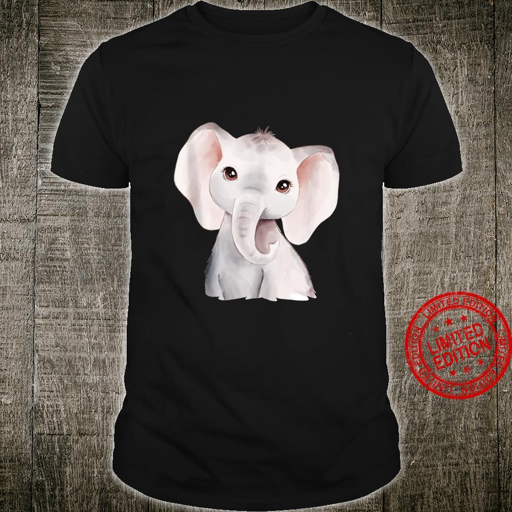 Baby Elephant Calf Watercolor Shirt