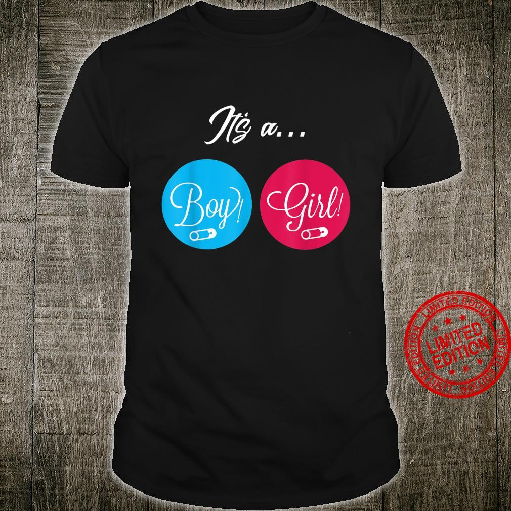 Baby Gender Shirt for Gender Reveal Party Shirt