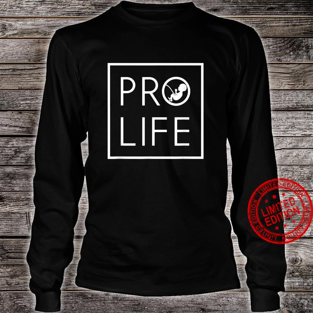 Baby Silhouette ProLife Minimalist Shirt for Christians Shirt long sleeved