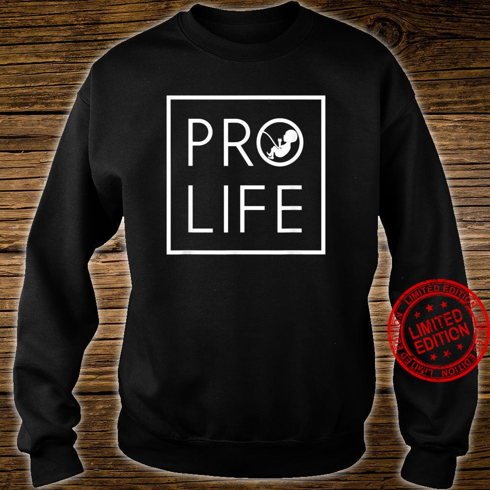 Baby Silhouette ProLife Minimalist Shirt for Christians Shirt sweater
