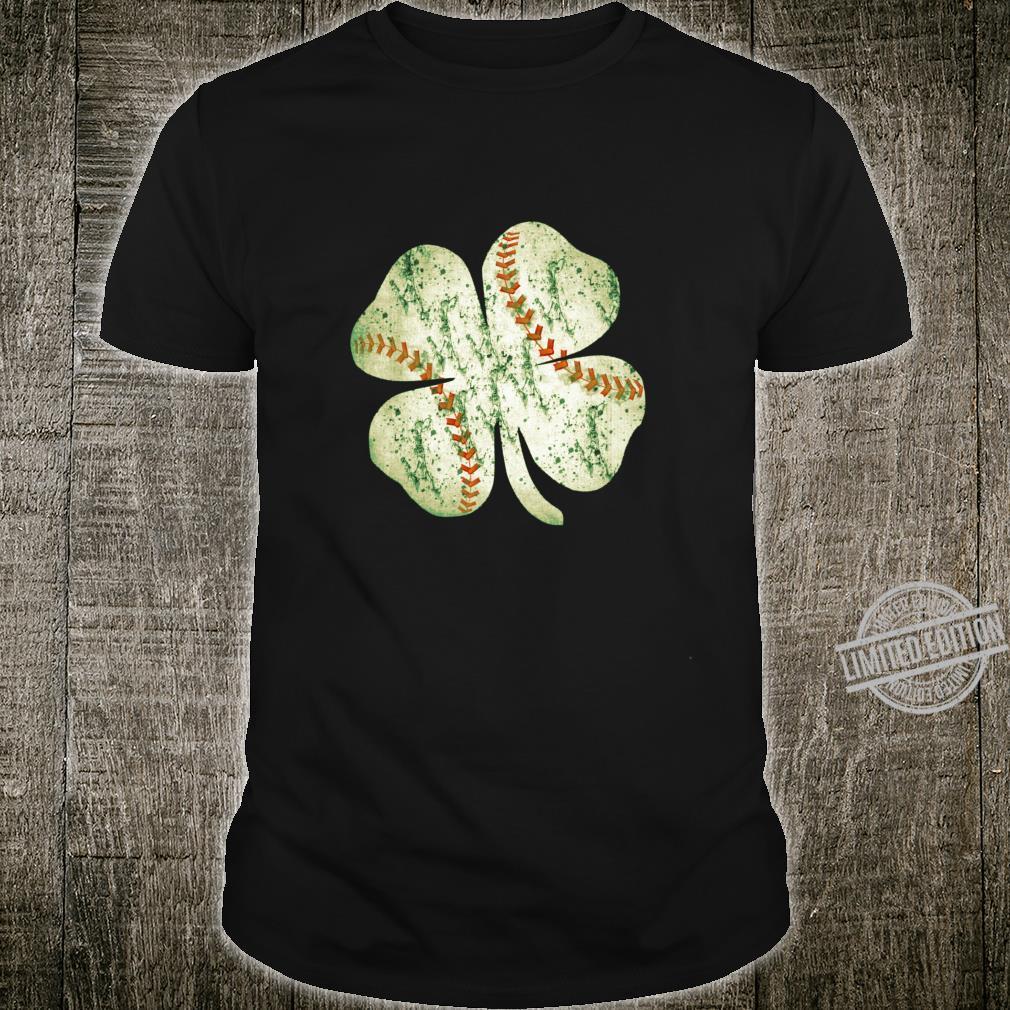 Baseball St Patricks Day Boys Catcher Pitcher Shamrock Shirt