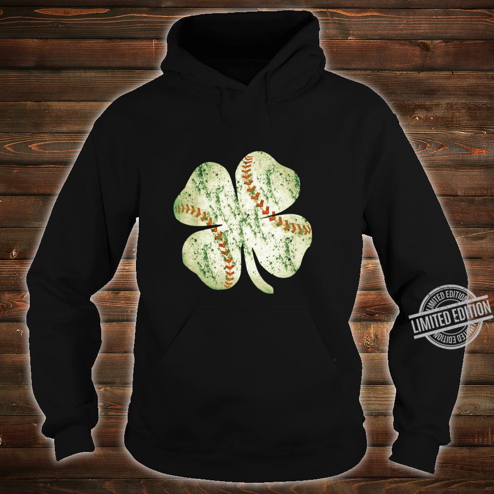 Baseball St Patricks Day Boys Catcher Pitcher Shamrock Shirt hoodie