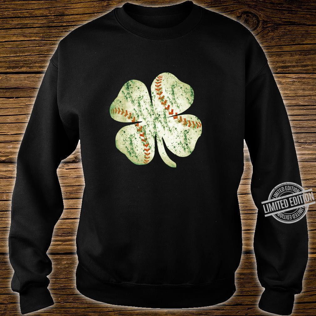 Baseball St Patricks Day Boys Catcher Pitcher Shamrock Shirt sweater