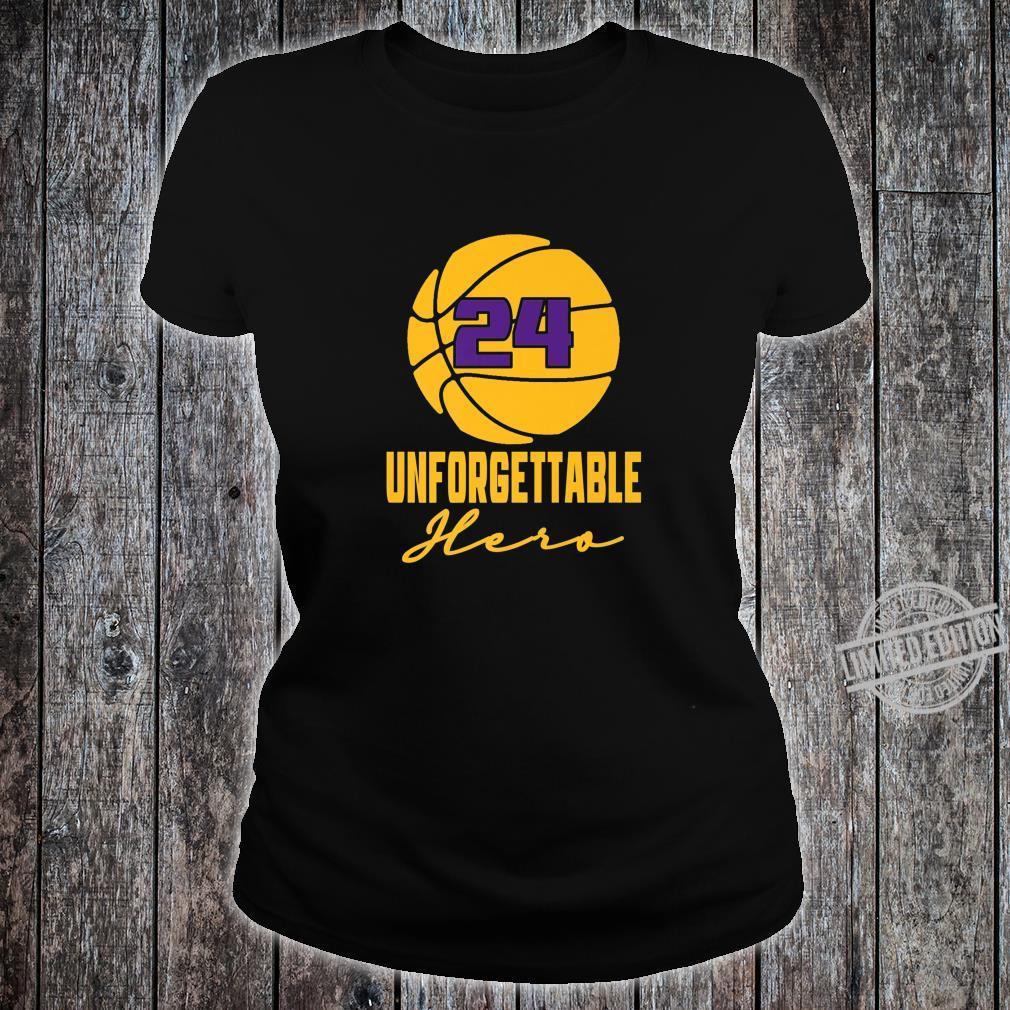 Basketball Hero Unforgettable Basketball Legend 24 Shirt ladies tee