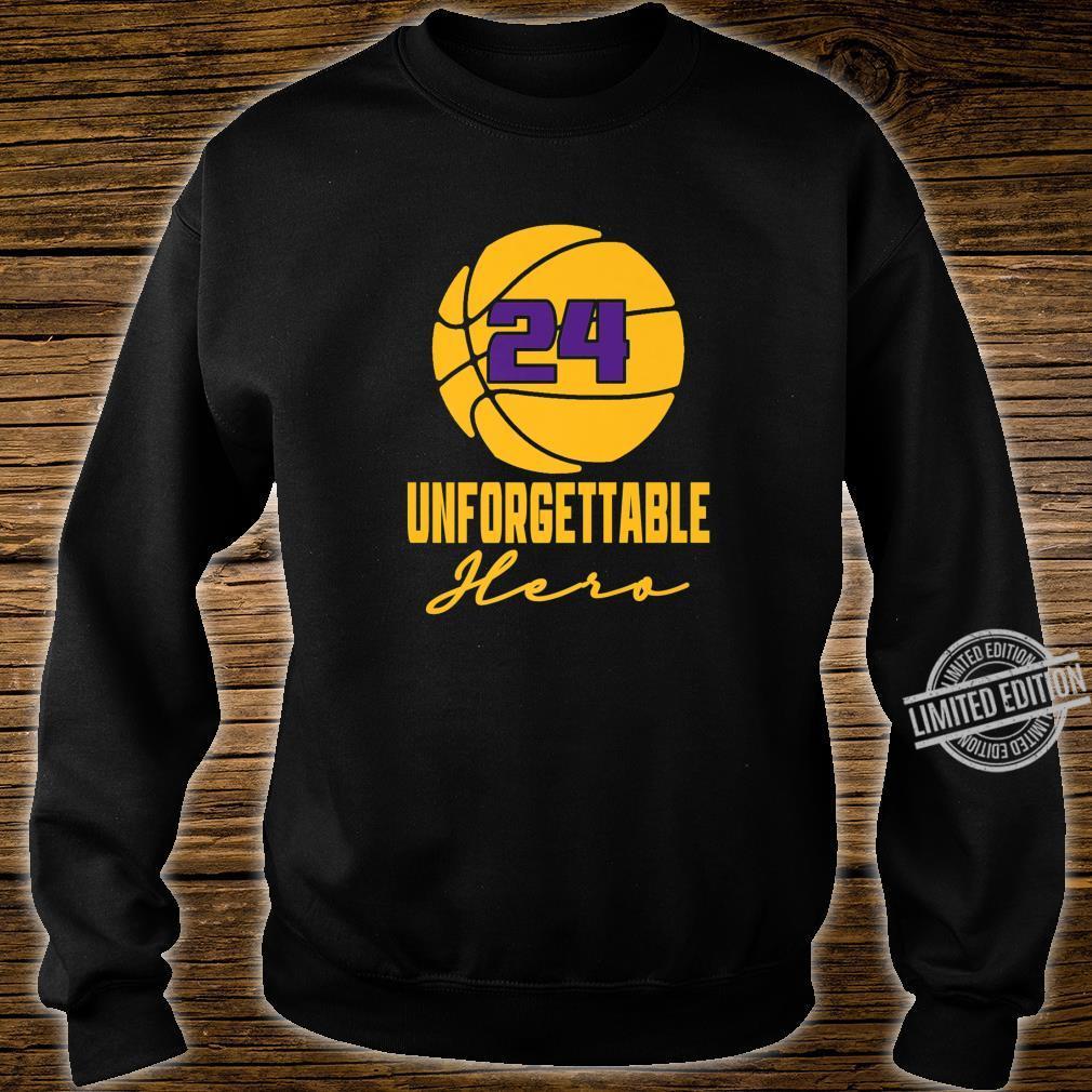 Basketball Hero Unforgettable Basketball Legend 24 Shirt sweater