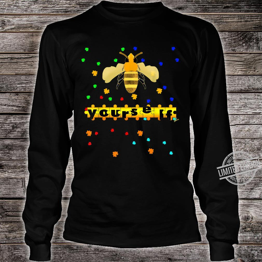 Be Yourself vesp or bee Outfit puzzle for autism awareness Shirt long sleeved