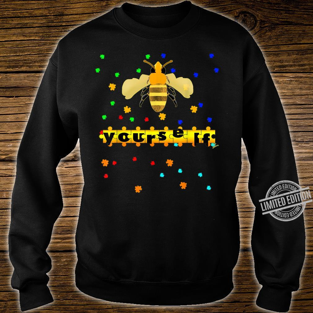 Be Yourself vesp or bee Outfit puzzle for autism awareness Shirt sweater