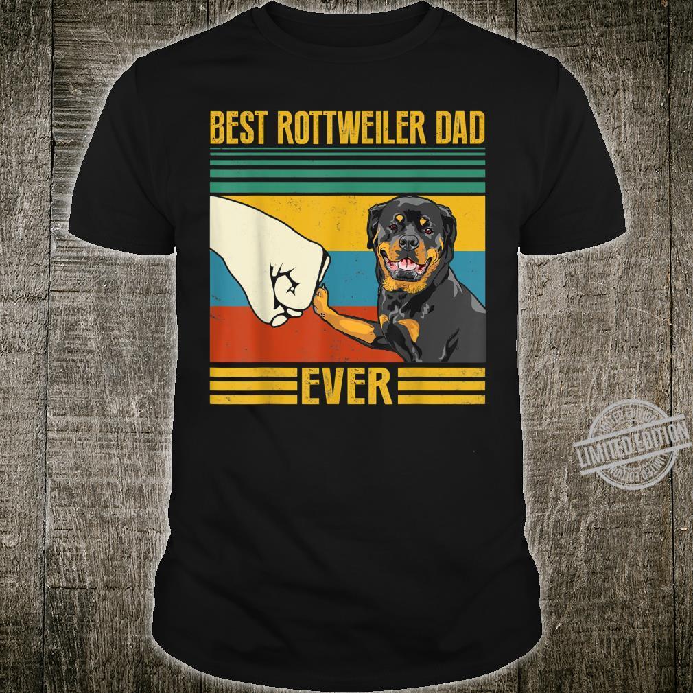 Best Rottweiler Dad Ever Pet Owner Father Shirt