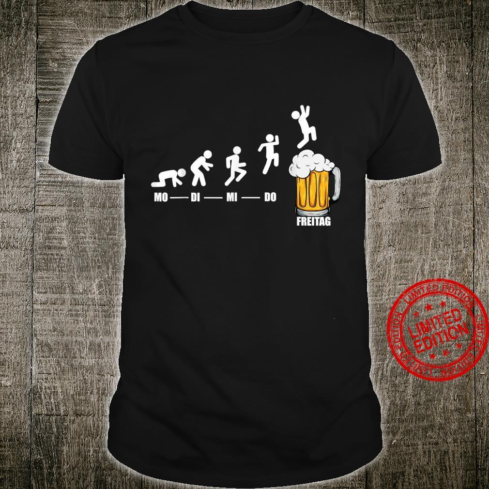 Bier Woche Endlich Freitag Wochenende Lustiges Bier Geschenk Shirt