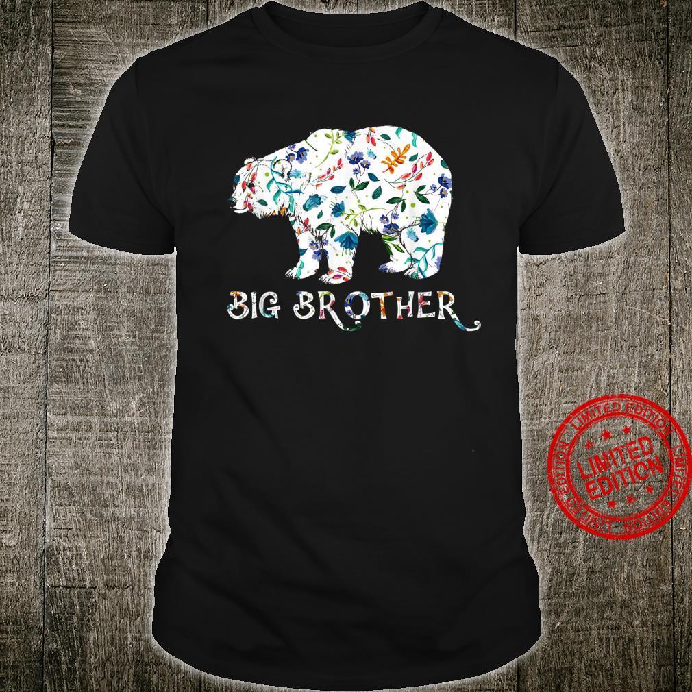 Big Brother Bear Floral Matching Family Shirt