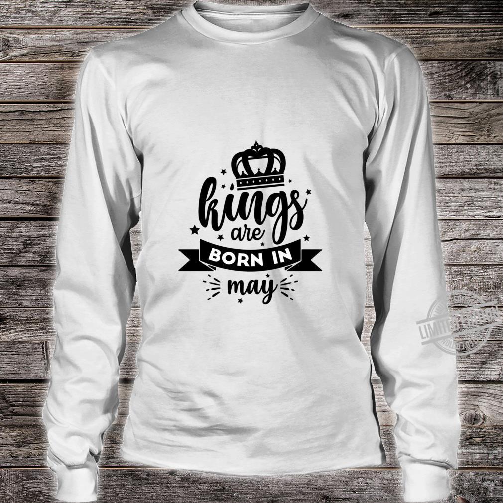 Birthday King May Lightweight Shirt long sleeved