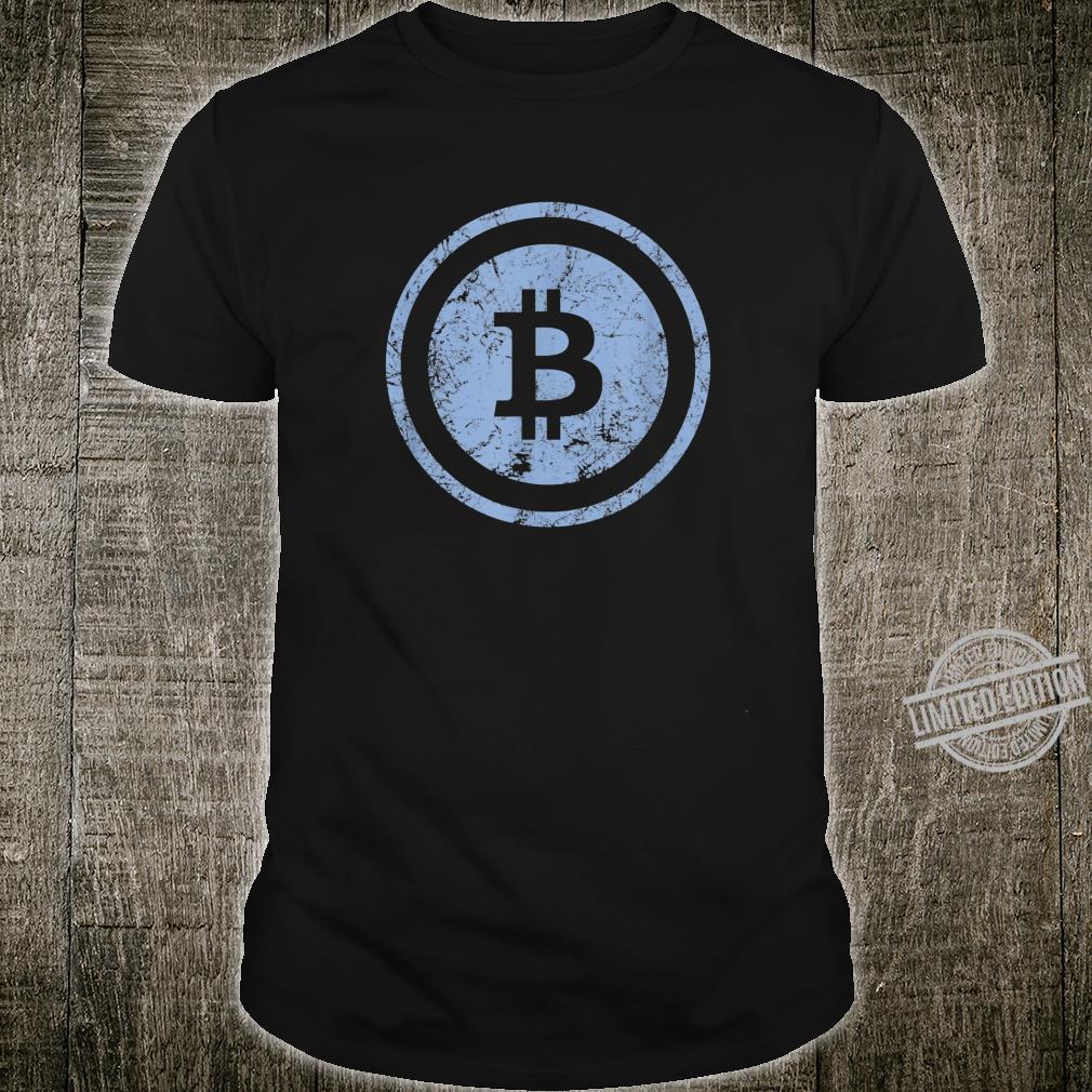 Bitcoin Logo Vintage Look I Cooles Retro BTC Bitcoin Design Shirt