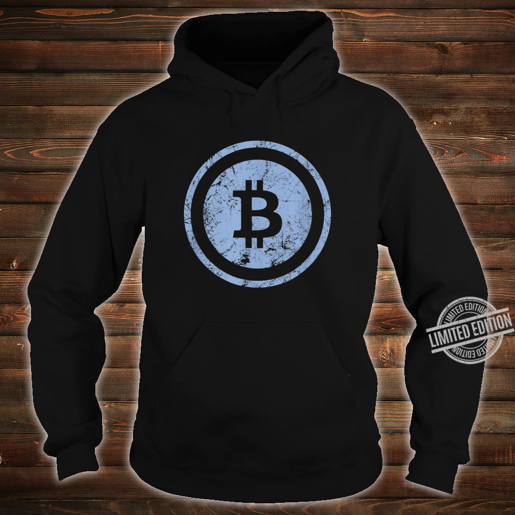 Bitcoin Logo Vintage Look I Cooles Retro BTC Bitcoin Design Shirt hoodie