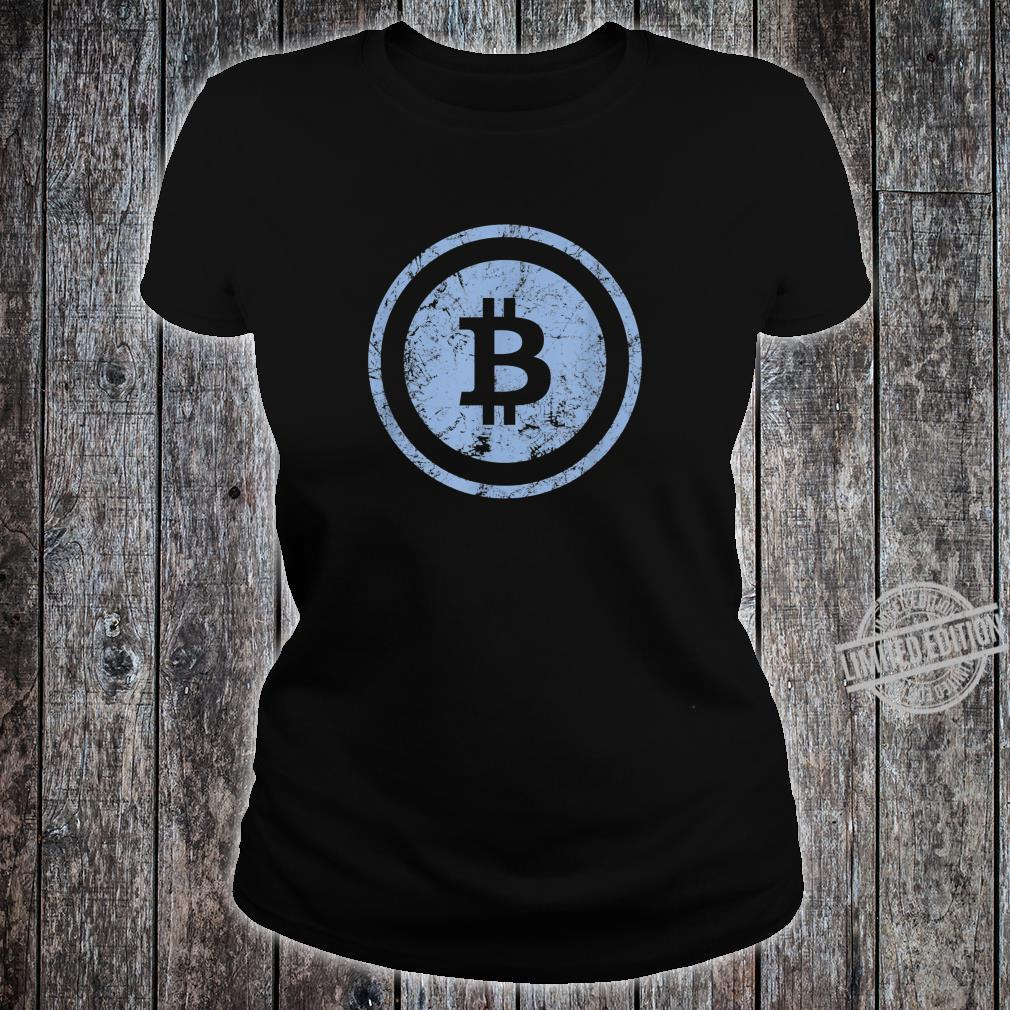 Bitcoin Logo Vintage Look I Cooles Retro BTC Bitcoin Design Shirt ladies tee