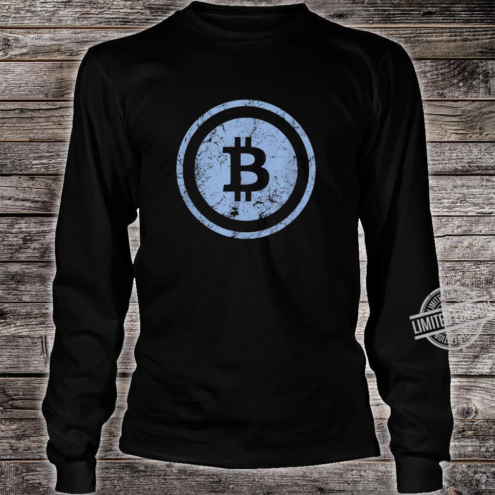 Bitcoin Logo Vintage Look I Cooles Retro BTC Bitcoin Design Shirt long sleeved