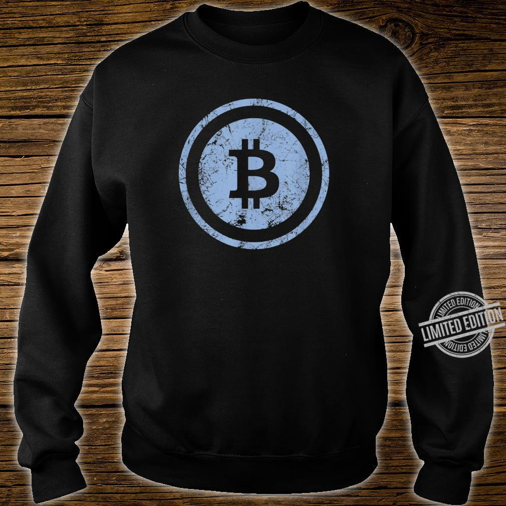 Bitcoin Logo Vintage Look I Cooles Retro BTC Bitcoin Design Shirt sweater
