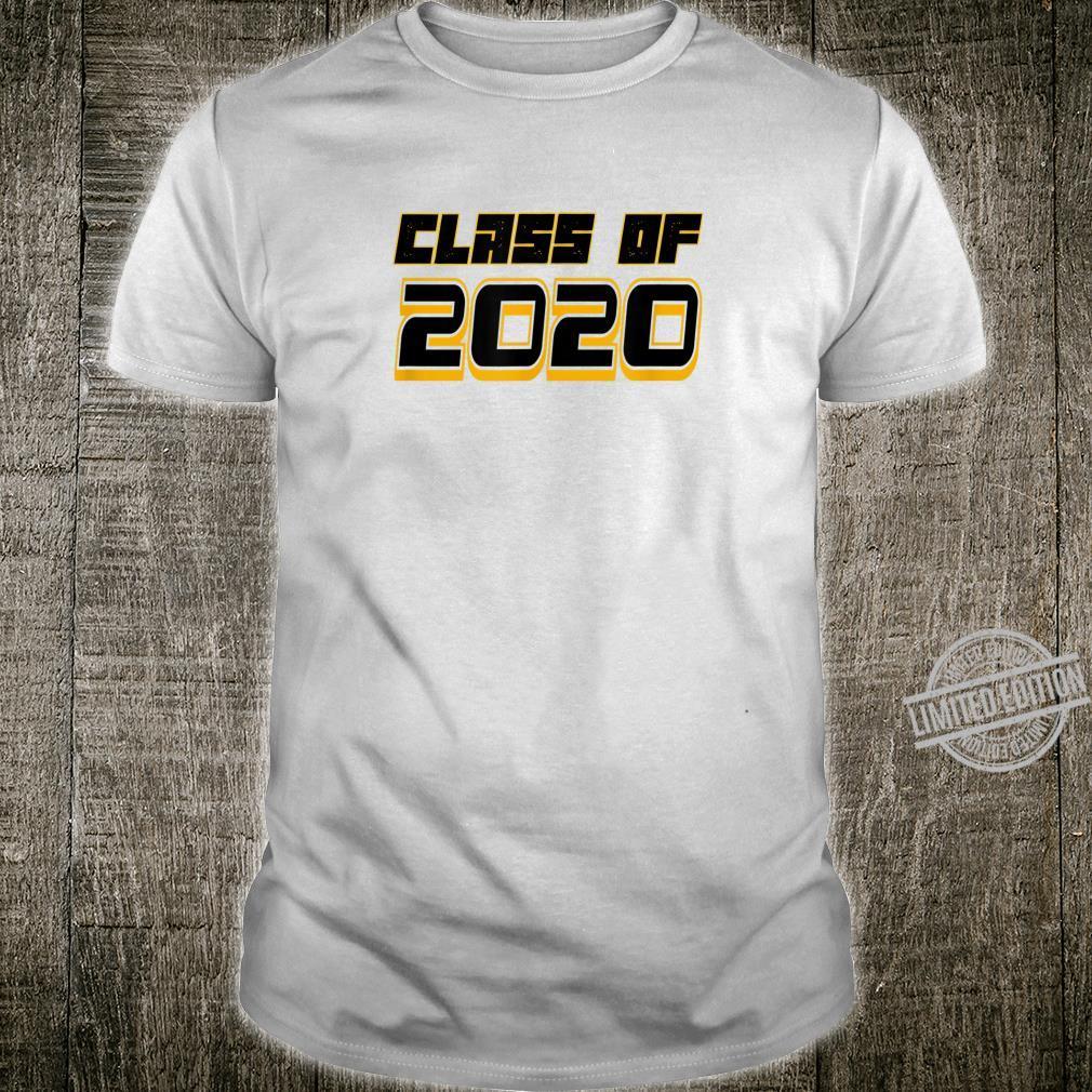 Black & Gold Class of 2020 Graduation for Seniors or Family Shirt