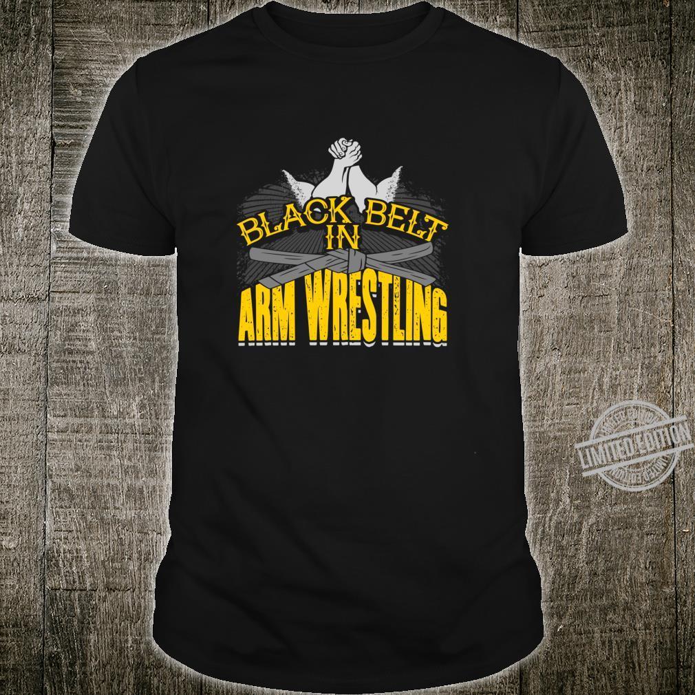 Black Belt In Arm Wrestling Drinking Shirt