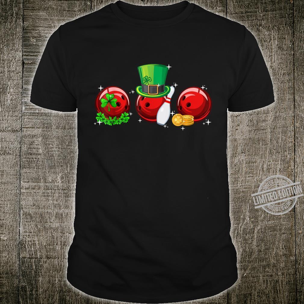 Bowling With Leprechaun Hat St Patricks Day Shirt