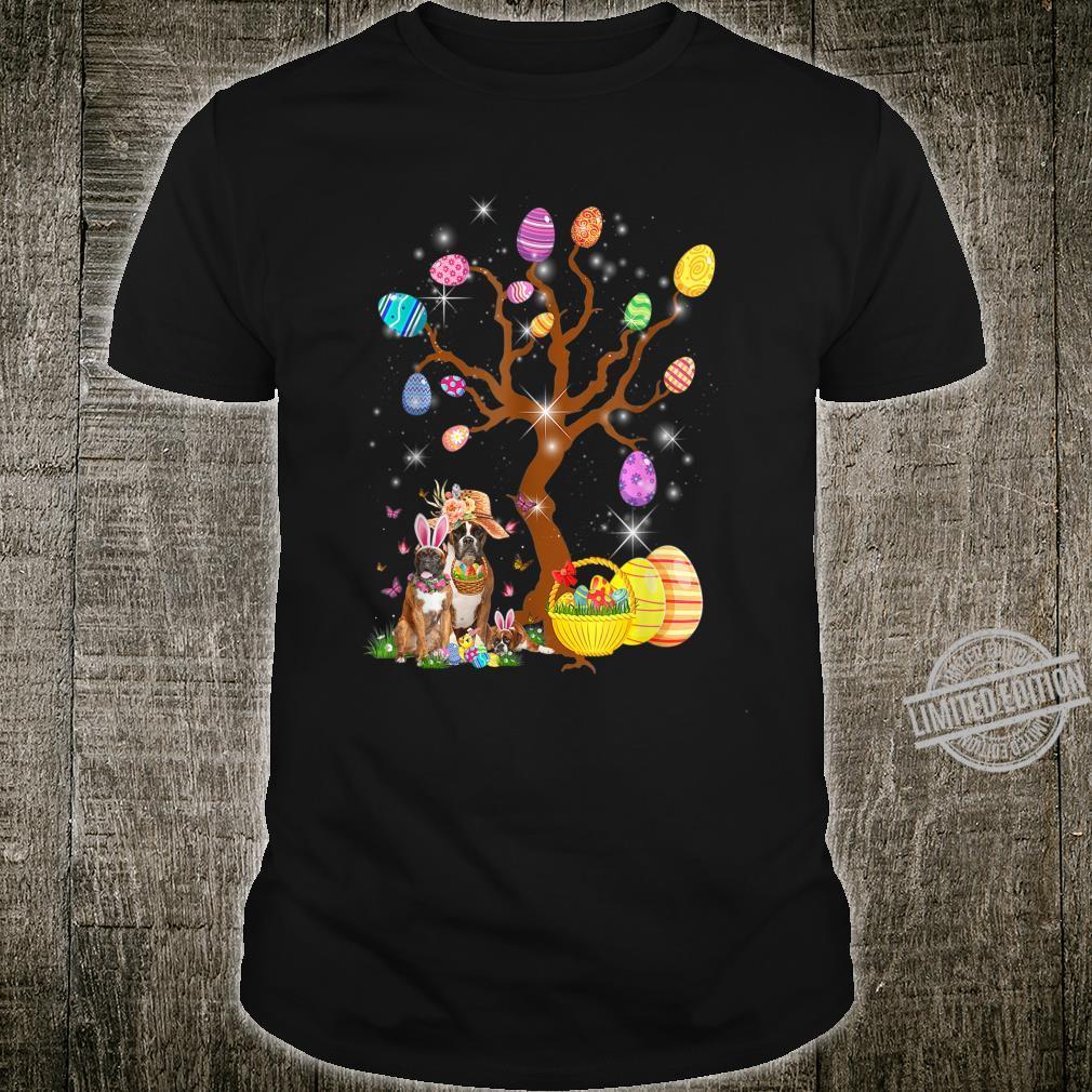 Boxer Animal Pet Hunt Egg Tree Easter Day Pascha Shirt