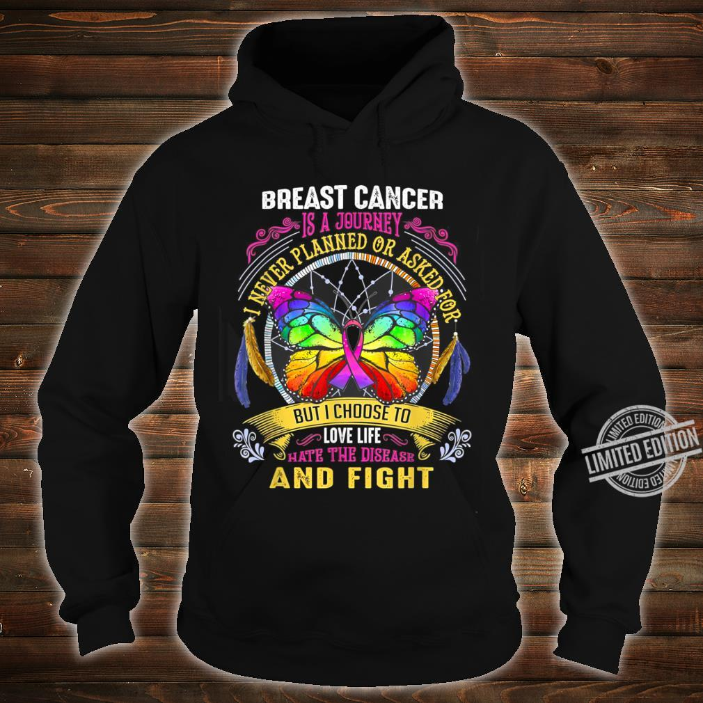 Breast Cancer Is a Journey Breast Cancer Shirt hoodie
