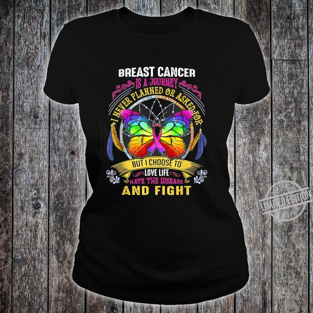 Breast Cancer Is a Journey Breast Cancer Shirt ladies tee