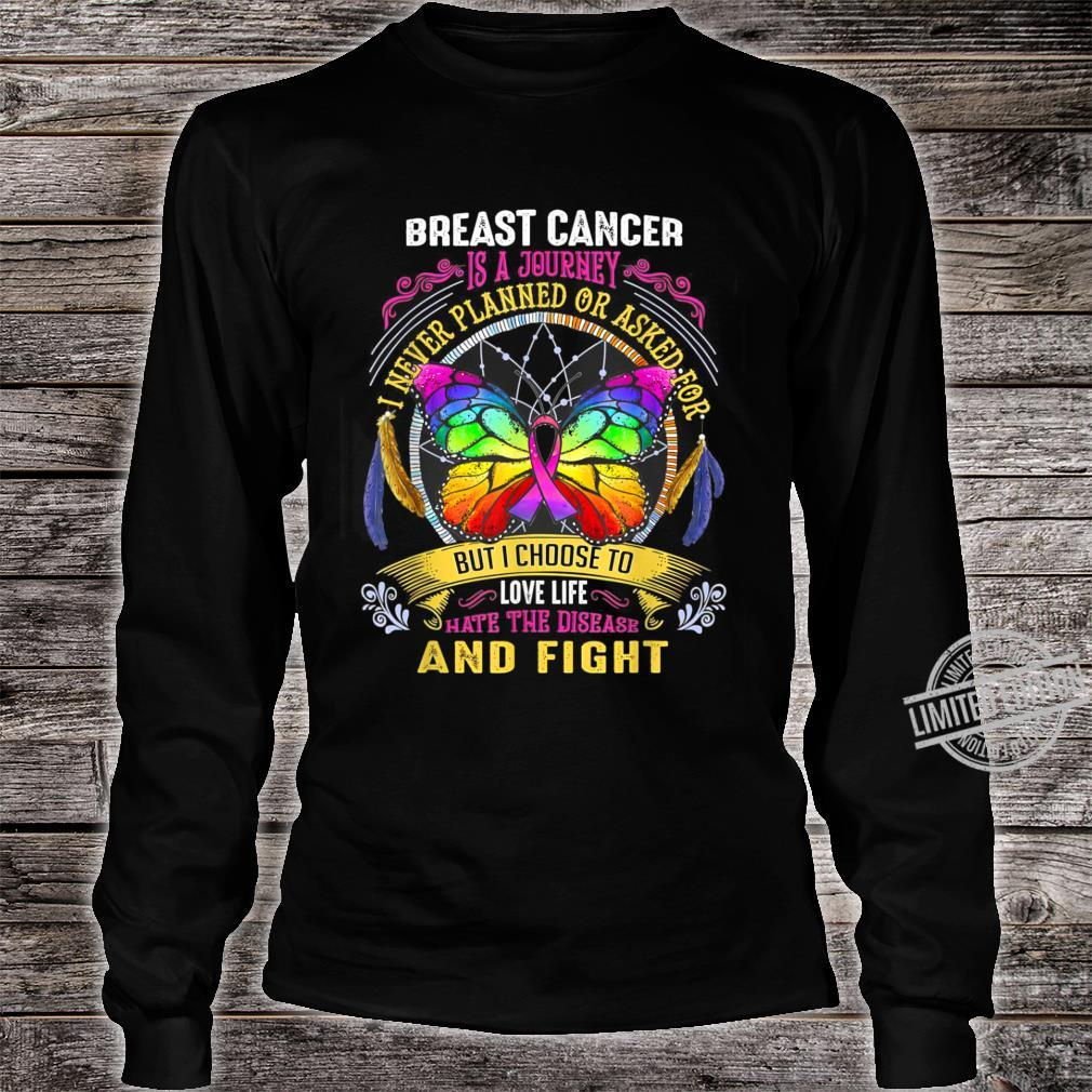 Breast Cancer Is a Journey Breast Cancer Shirt long sleeved