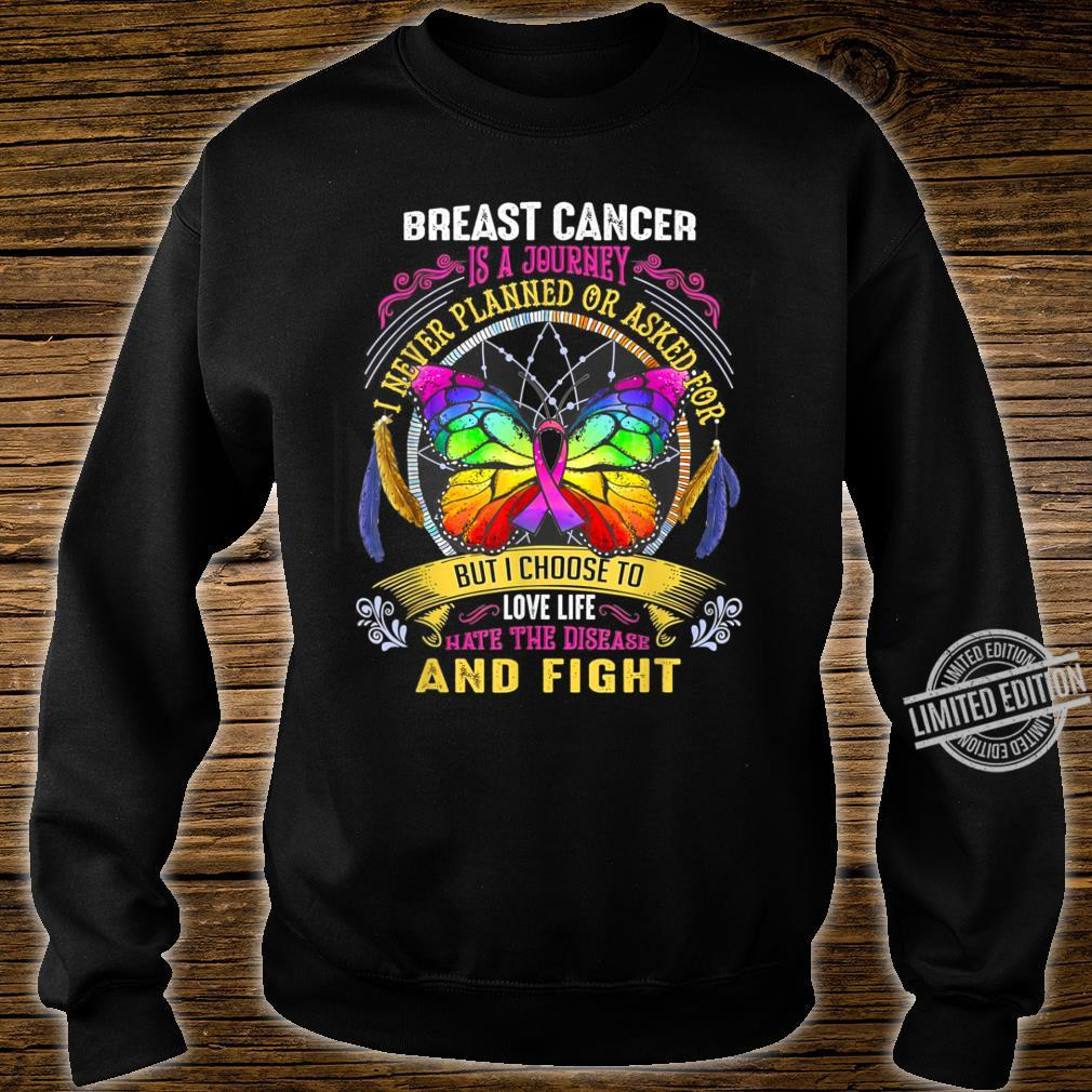 Breast Cancer Is a Journey Breast Cancer Shirt sweater