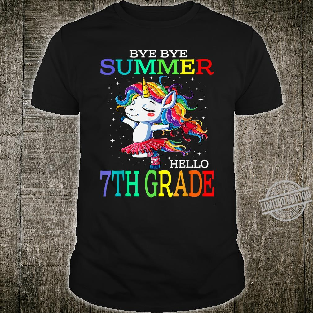 Bye Bye Summer Hello 7th Grade Unicorn Shirt