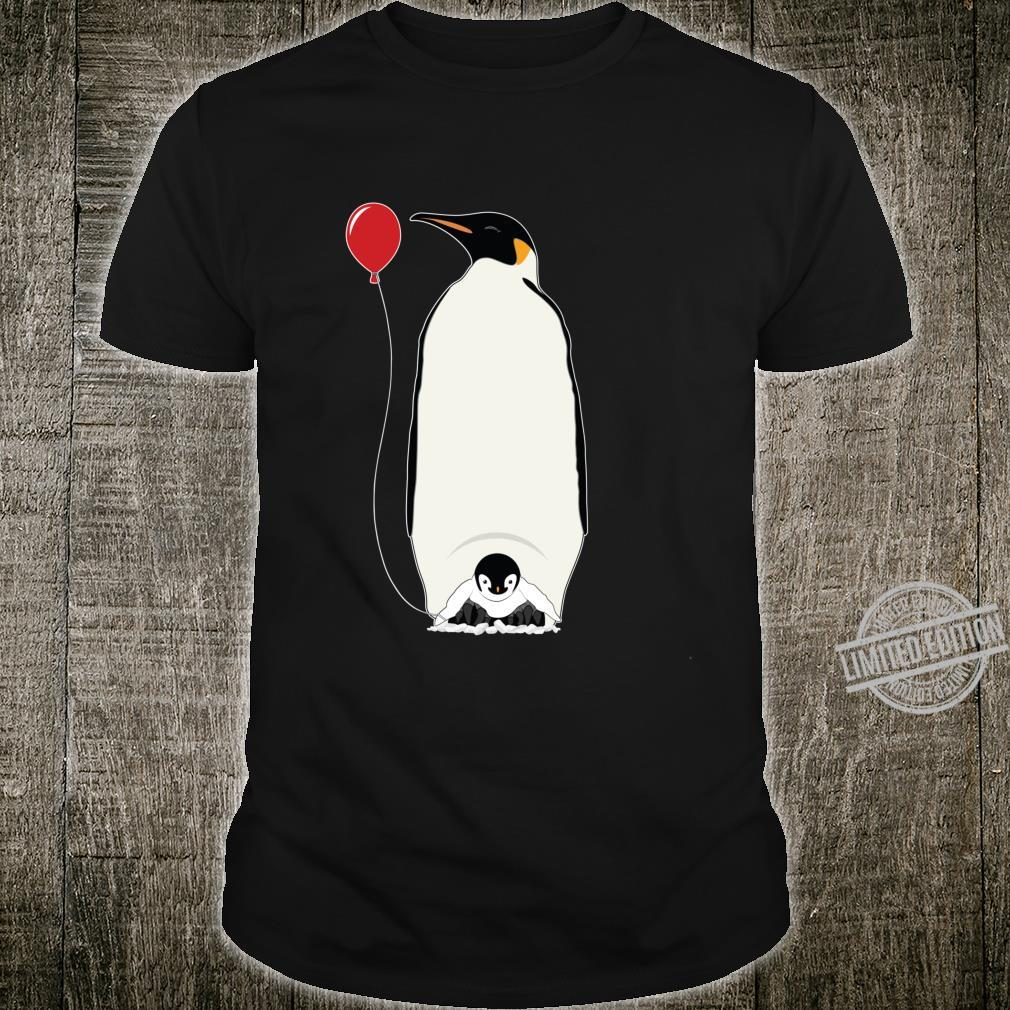 Coolest Papa Penguin & Chick & Balloon Father's Day Shirt