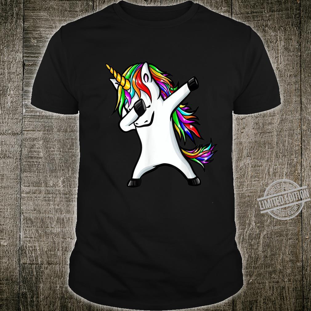 Dabbing Unicorn Girls Rainbow Unicorns Shirt