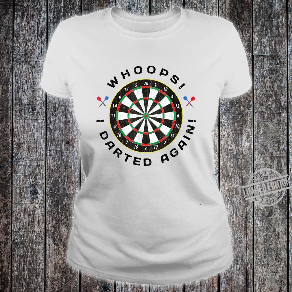 Dartboard Dart Throwing Humor Shirt ladies tee