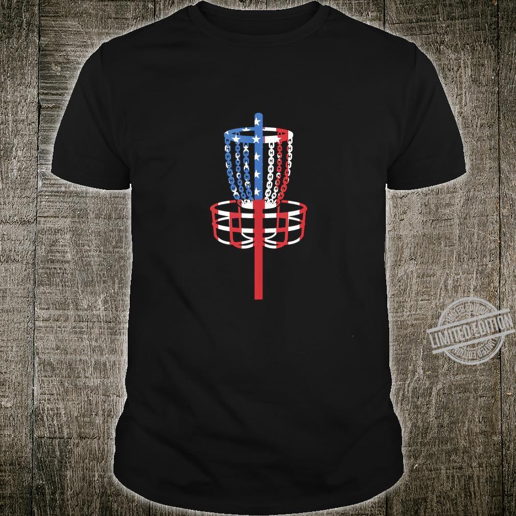 Disc Golf Patriotic Flag July 4th Shirt