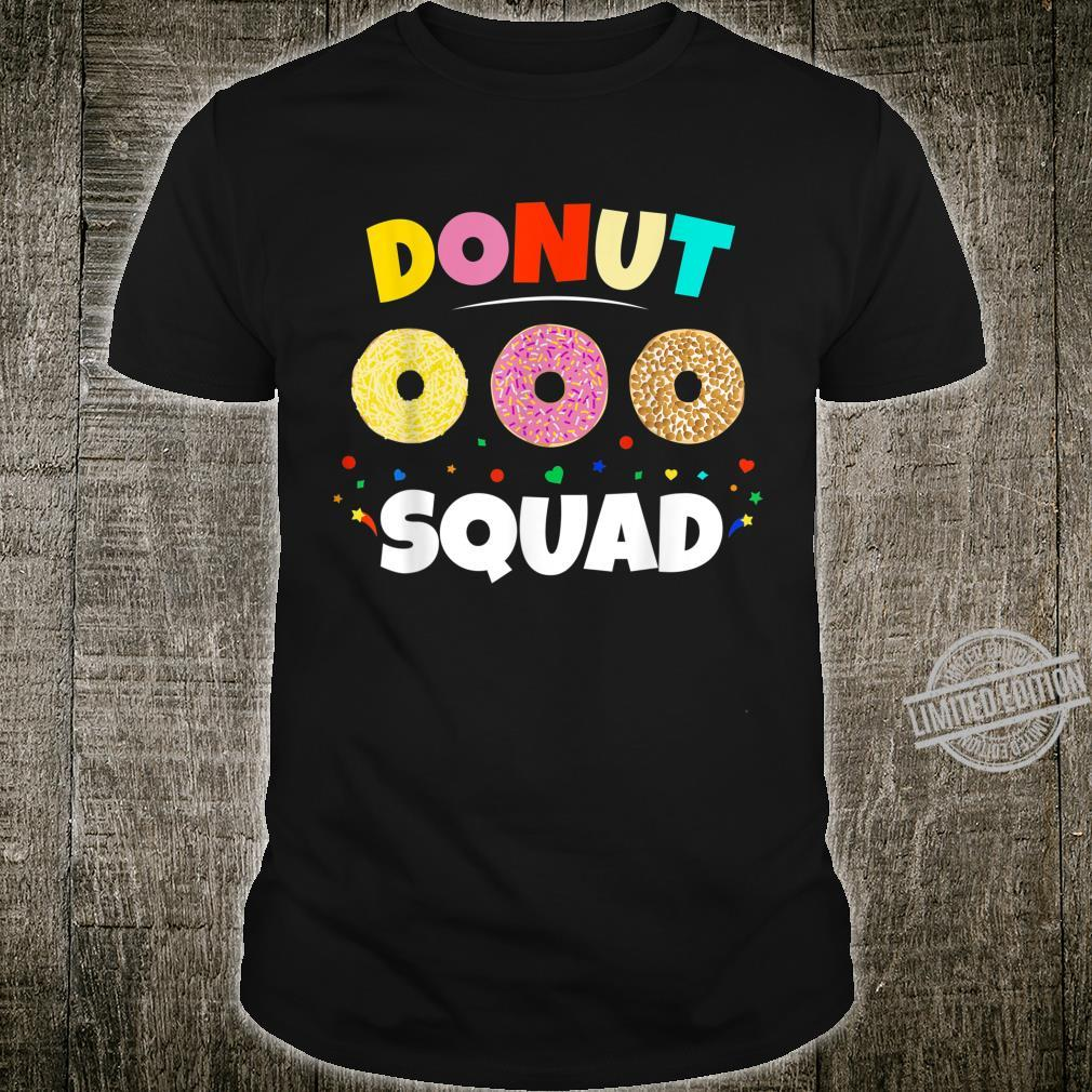 Donut Squad Girl Love Donut Party Day Theme Shirt