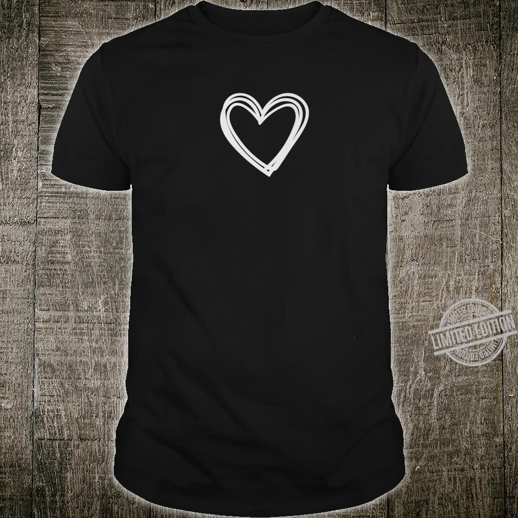 Doodle Heart Love Valentine's Shirt
