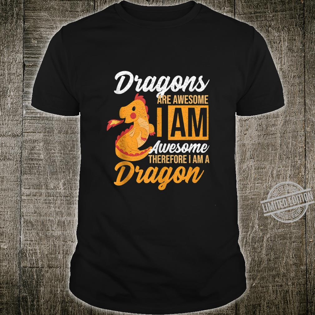 Dragons Are Awesome Retro Vintage Animal Shirt