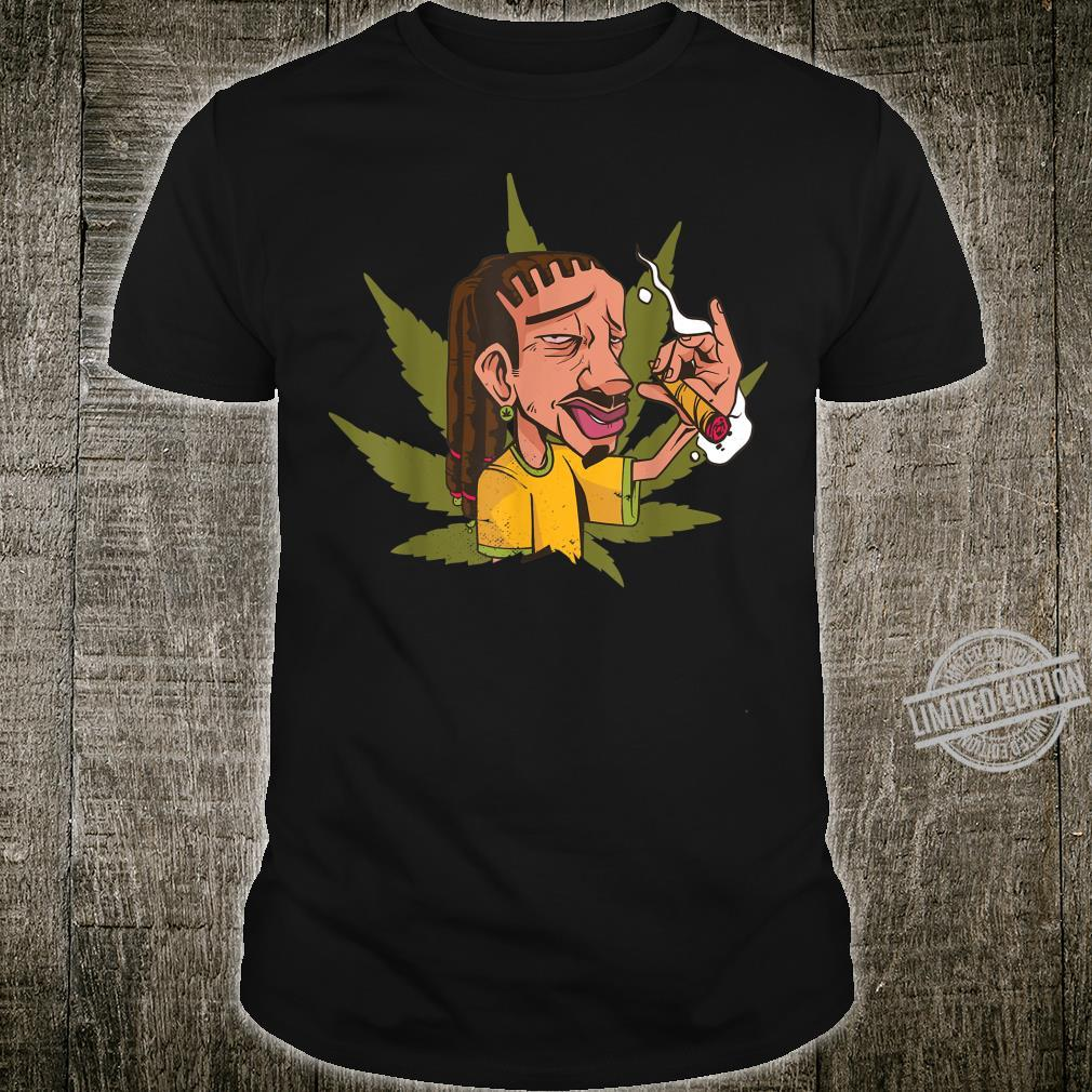 Dreadlocks Smoking Marijuana joint, Rastafari Cannabis Smoke Shirt