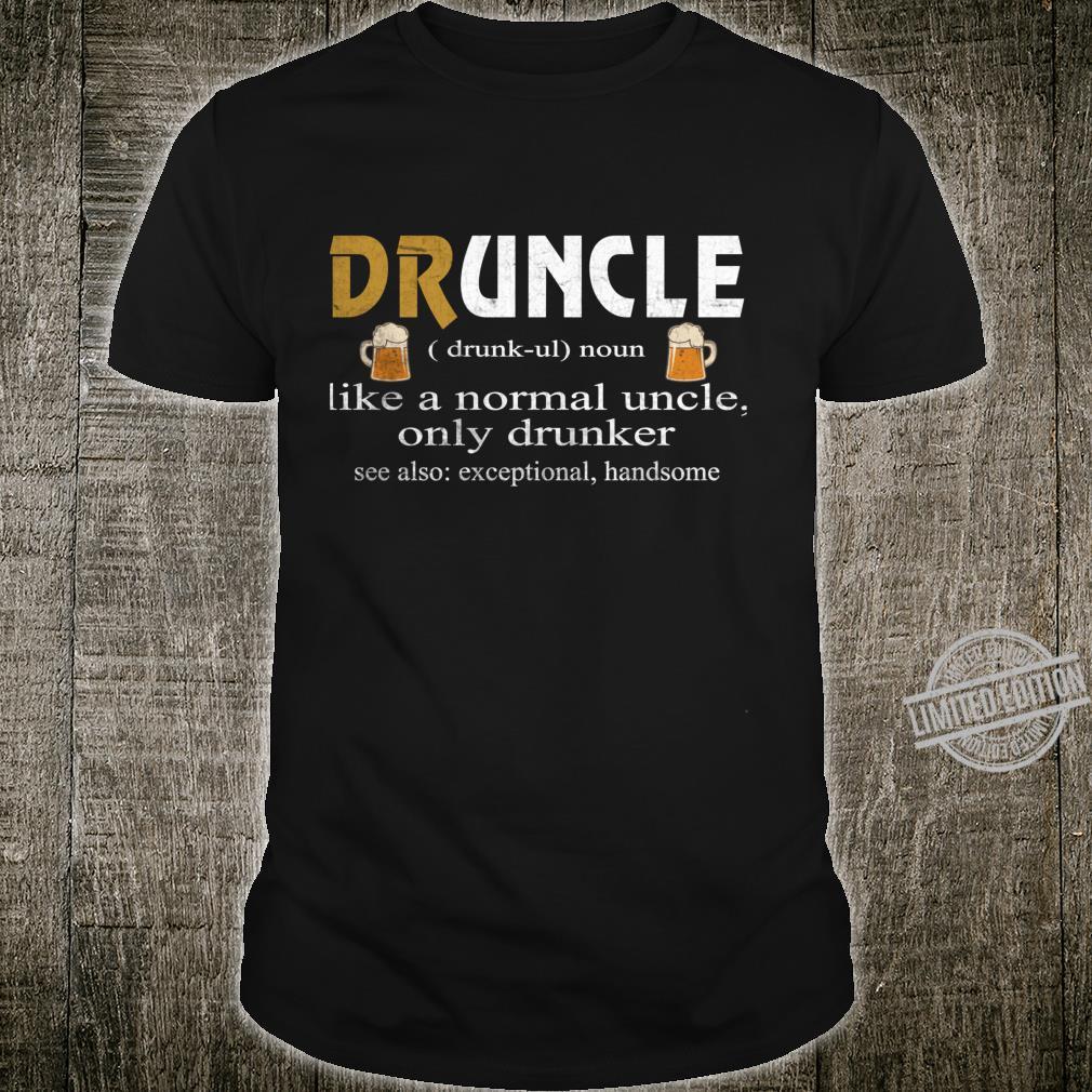 Druncle Beer Beer Awesome Design Shirt